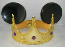 Disney on Ice Gold Crown Mickey Mouse Ears Purple Jewels Children's Hat Souvenir