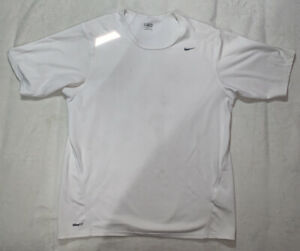 VINTAGE Nike Shirt Medium White Mens Reflective Running