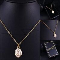 Geschenk Kette Halskette *Ellipse*, Gold pl., Damen, Swarovski Elements, +Etui