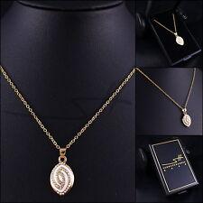 1++ Geschenk Kette Halskette *Ellipse*, Gelbgold pl., Swarovski Elements, +Etui