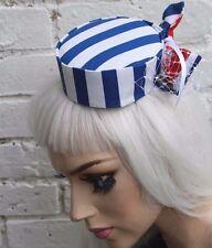 Mini boîte à pilules top hat sailor à rayures gothique lolita goth indie grunge halloween