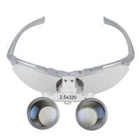 Dentist Dental Surgical Medical Binocular Loupes 2.5X 320mm Optical Glass Loupe