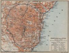 Etna dintorni/contorni. CATANIA GIARRE ACIREALE. Sicilia Sicilia mappa 1912