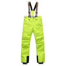 Women Ski Snowboarding Bib Pants Trousers Salopettes Waterproof Snow Pants