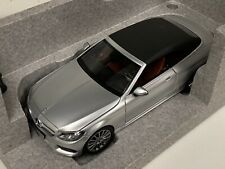 1/18 Mercedes Benz C Class convertible Dealer Edition in Silver with Top