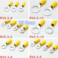 12 Size Pvc Insulated Ring Terminal Home Car Audio Wiring Crimp Connector 120Pcs (Fits: More than one vehicle)