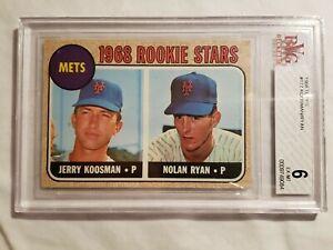 1968Topps#177Nolan RyanBVG9749084 Grade 6ExRookie
