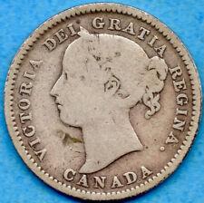 Canada 1898 10 Cents Ten Cent Silver Coin - G/VG