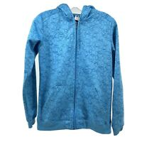 Under Armour Womens XS Turquoise Blue Full Zip Hooded Fleece Lined Jacket UA