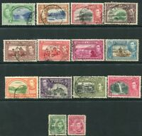 TRINIDAD & TOBAGO-1938-44 Set to $4.80 Sg 246-256 FINE USED V20713