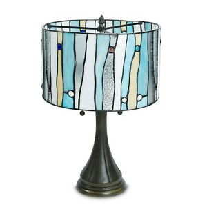 "Tiffany Style Contemporary Table Lamp 14"" Shade"