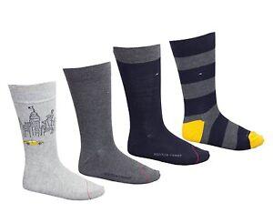 Tommy Hilfiger Men's 4 Pack Logo Socks Shoes Size 6/12