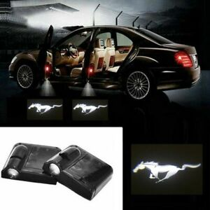 For Mustang Courtesy Door LED Logo Projector Light 2Pc Welcome Light Shelby Ford