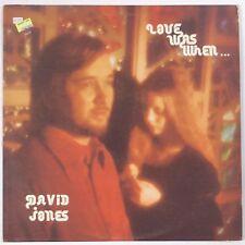 DAVID JONES: Love Was When PRIVATE OHIO  Xian VINYL LP Hear