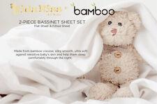 Kidz Kiss Bamboo 2 Piece Bassinet / Cradle Sheet Set - Silky Soft, Lightweight