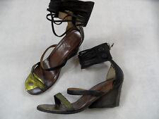 A.S. 98 stylisch Sandaletten mit Fesselriemchen schwarz gold Gr. 39 TOP718