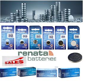 Renata Lithium Montre Batteries Piles Plates - CR1025, CR1220, CR1616, CR1632,
