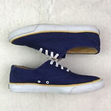Rockport Women's Shoes 10M Canvas Casual Lace Up Nautical Boat Blue Yellow
