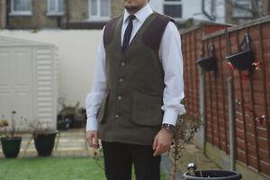 Milano Men Tweed Mix ,Breathable, Shooting, Hunting Gilets, Waistcoat