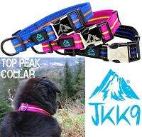 JKK9® Dog Collar Strong Reflective Adjustable Collars With Adjustable D-Ring