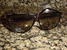 NEW EMANUEL OVERSIZED SUNGLASSES BROWN 100% UV CATEGORIE 3 K645 MADE IN ITALY