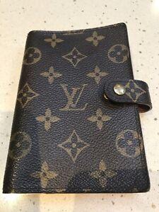 Authentic Louis Vuitton PM Ring Agenda Diary Cover Filofax Organiser