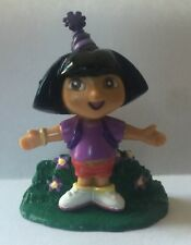 "Viacom Dora the Explorer Cake Topper 2"" Birthday Purple Hat PVC Backpack Figure"