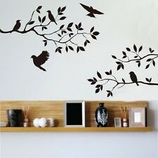 Birds Tree Branches Removable Vinyl Art Wall Sticker Home Decals Modern Decor US