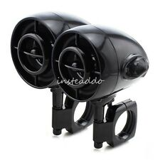 Waterproof Motorcycle Speaker Audio Sound Stereo System Handlebar Mount Black