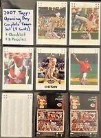 2007/2008/2010 Topps Opening Day (3 Sets) Cincinnati Complete Sets (22 Cards)
