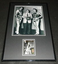 Ed Macauley Signed Framed 11x17 Photo Display JSA Celtics w/ Red Auerbach Cousy