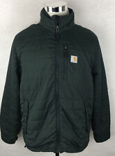 Carhartt Quilted Insulated Puffer Jacket Green Mens Nylon Size Large L