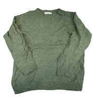 VINTAGE Knitted Adult Jumper Large Green Wool Knit Pullover