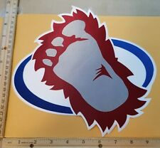 "HUGE COLORADO AVALANCHE IRON-ON PATCH - 9.5"" x 10"""
