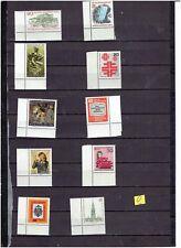 BERLIN : 10 verschiedene postfrische Eckrand Marken / o