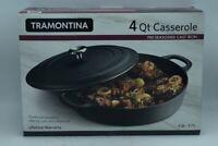 NEW!!  Tramontina Pre-Seasoned Cast Iron Casserole 4 QT 3.7 L  FREE SHIPPING