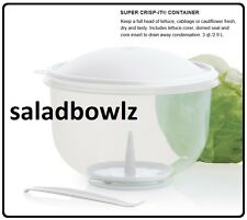 TUPPERWARE 3 Qt SUPER CRISP-IT LETTUCE KEEPER CONTAINER Corer, Seal and Insert!