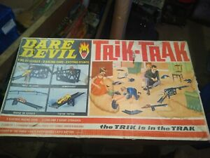 Vintage Dare Devil Trik Trak racing car game - Triang - Tatty