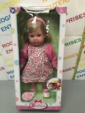 JC Toys Berenguer Boutique Carla 14'' Toddler Doll Blonde Pink Flower Outfit New