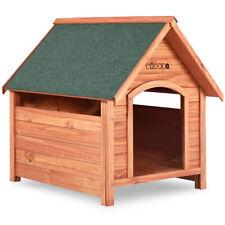 Caseta para perros de madera con tejado de superficie asfáltica casita mascota