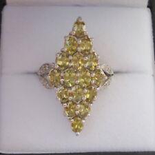 2.52ct Fiery Certified Demantoid Garnet Gold Ring