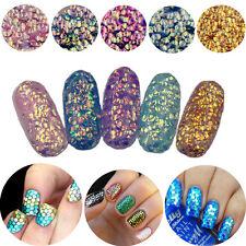 5X Nail Art Shining Mermaid Scales Nail Sequins Glitter Tips Manicure Decor MJ36