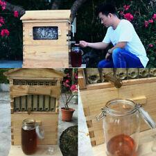 7pcs Free Flowing Honey Hive Beehive Frames Beehive House Cedarwood Box Set Us