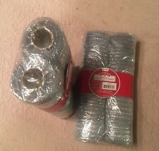 Craft Mesh Fabric Ribbon For Wreaths Handmade Items Double Pack Silver