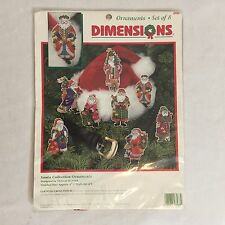 DIMENSIONS CROSS STITCH  8 SANTA CLAUS CHRISTMAS ORNAMENTS - VICTORIA HOWARD