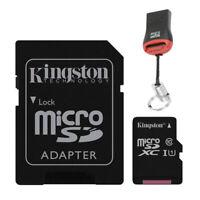 32GB MicroSD Speicherkarte Micro SDXC Kingston SD Adapter + USB Kartenleser
