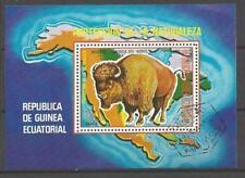 Animaux Bison Guinée Equatoriale (58) bloc oblitéré