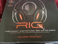 """New"" Plantronics Black Rig Headset for Multi-Platform Gaming"
