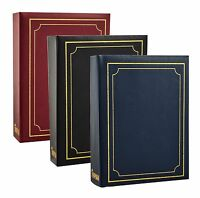 """6"""" X 4"""" Traditional Photo Album with 200 Pockets Black, Blue or Burgundy - 1125"""