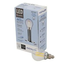 2-Kichler 40W Equivalent LED Dimmable Soft White A15 Candelabra Base Light Bulb
